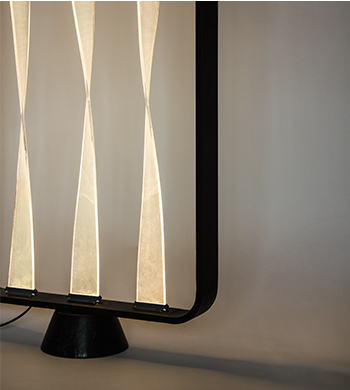 turning floor lamp