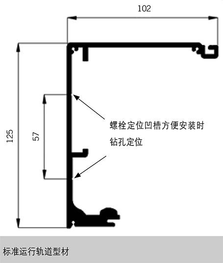 多玛自动门ES68-精睿轨道尺寸