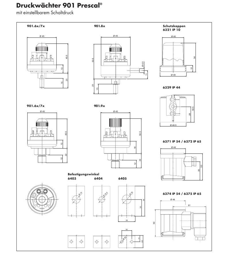 Type901可调型压力开关_结构图