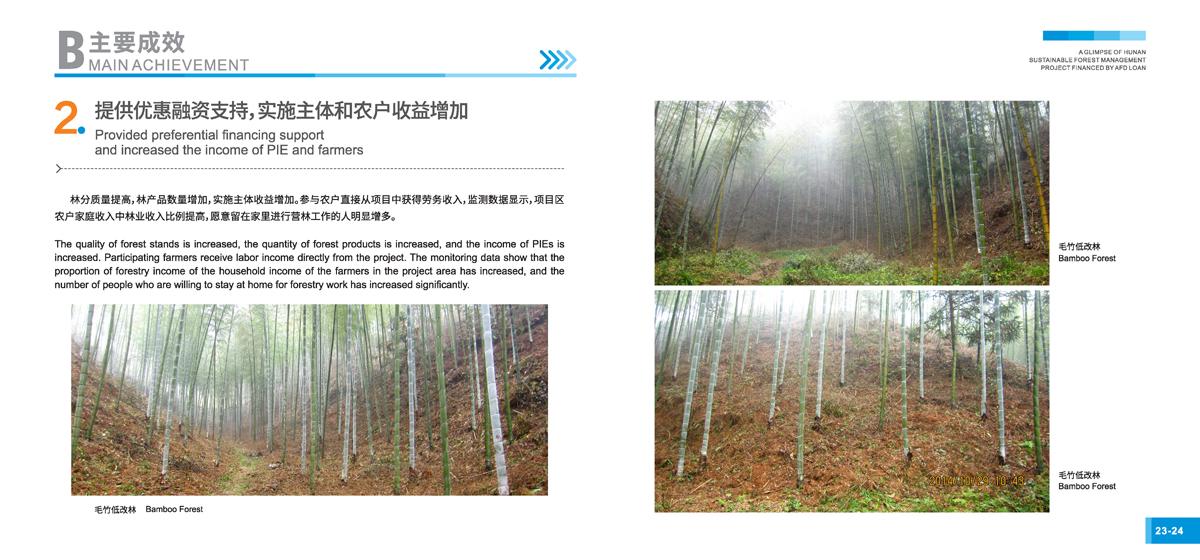 法国开发署贷款湖南森林可持续经营项目画册14