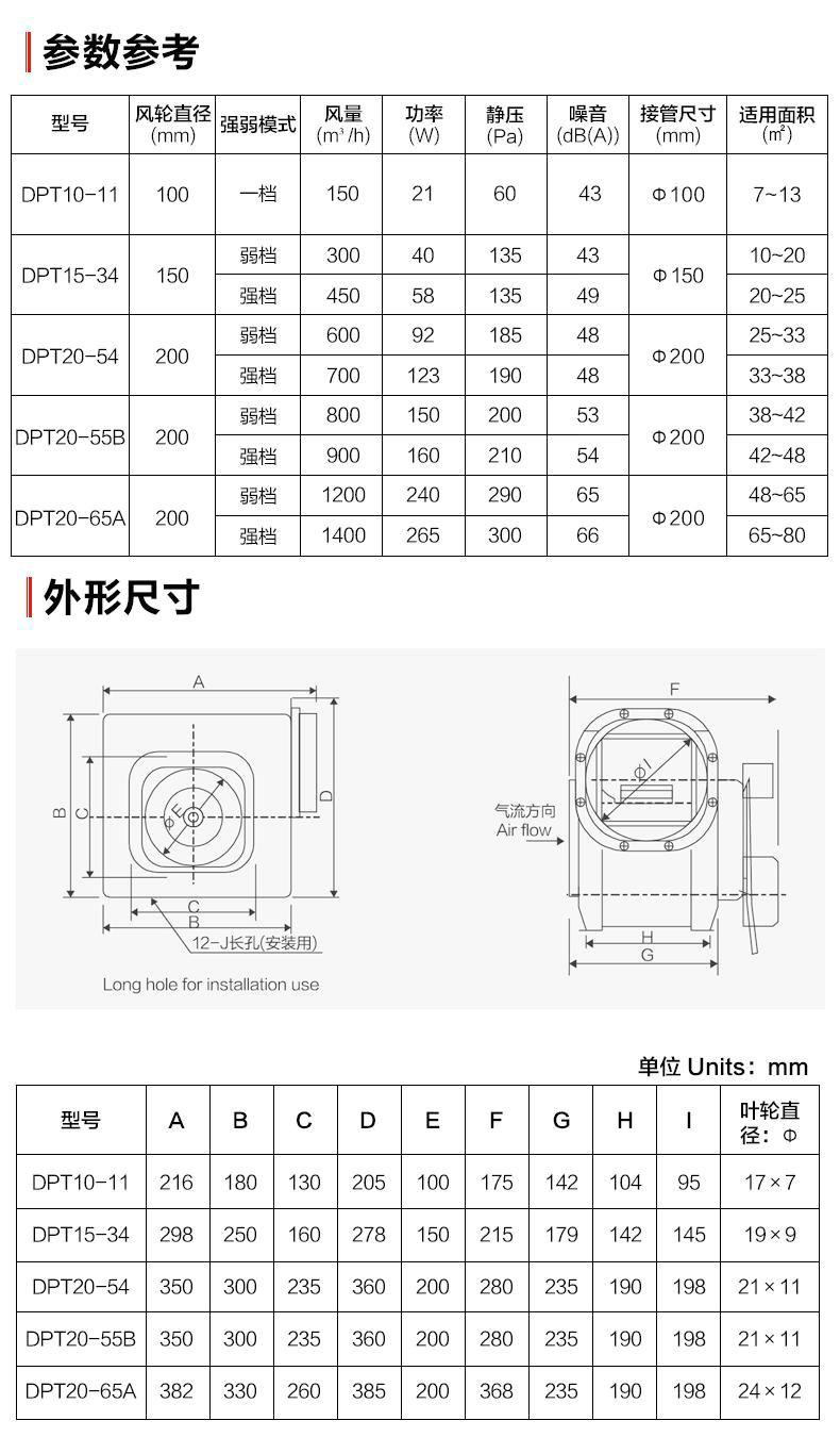 綠島風全金屬分體管道式換氣扇-10