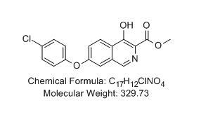 4-羥基-7--4-氯苯氧基-異喹啉-3-甲酸甲酯