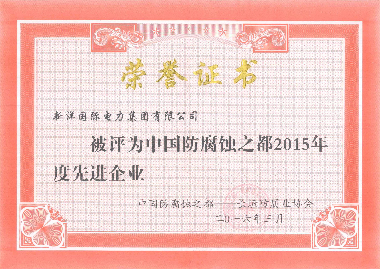 2015年度中國防腐之都先進企業