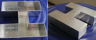 金属广告字激光焊接