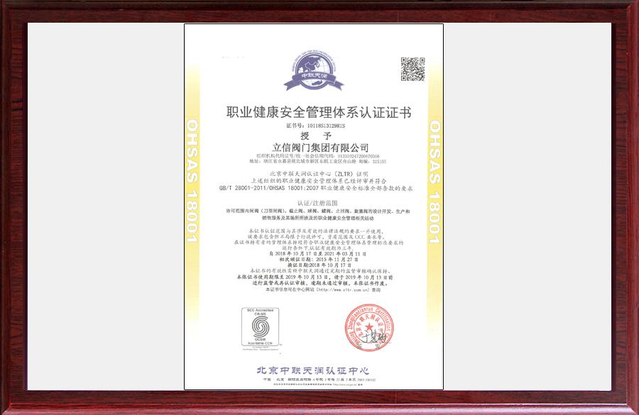 18001職業健康安全管理體系認證