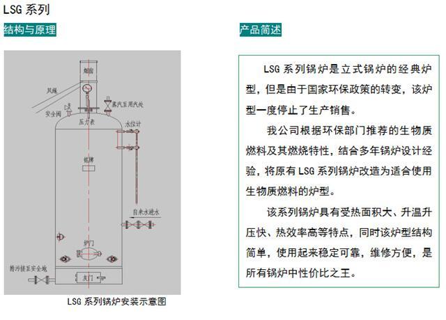 小型汽水節能無需辦證生物質顆粒LSG鍋爐3