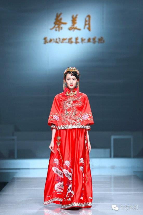 我院副院長蔡美月2017春夏婚紗禮服發布會亮相中國國際時裝周