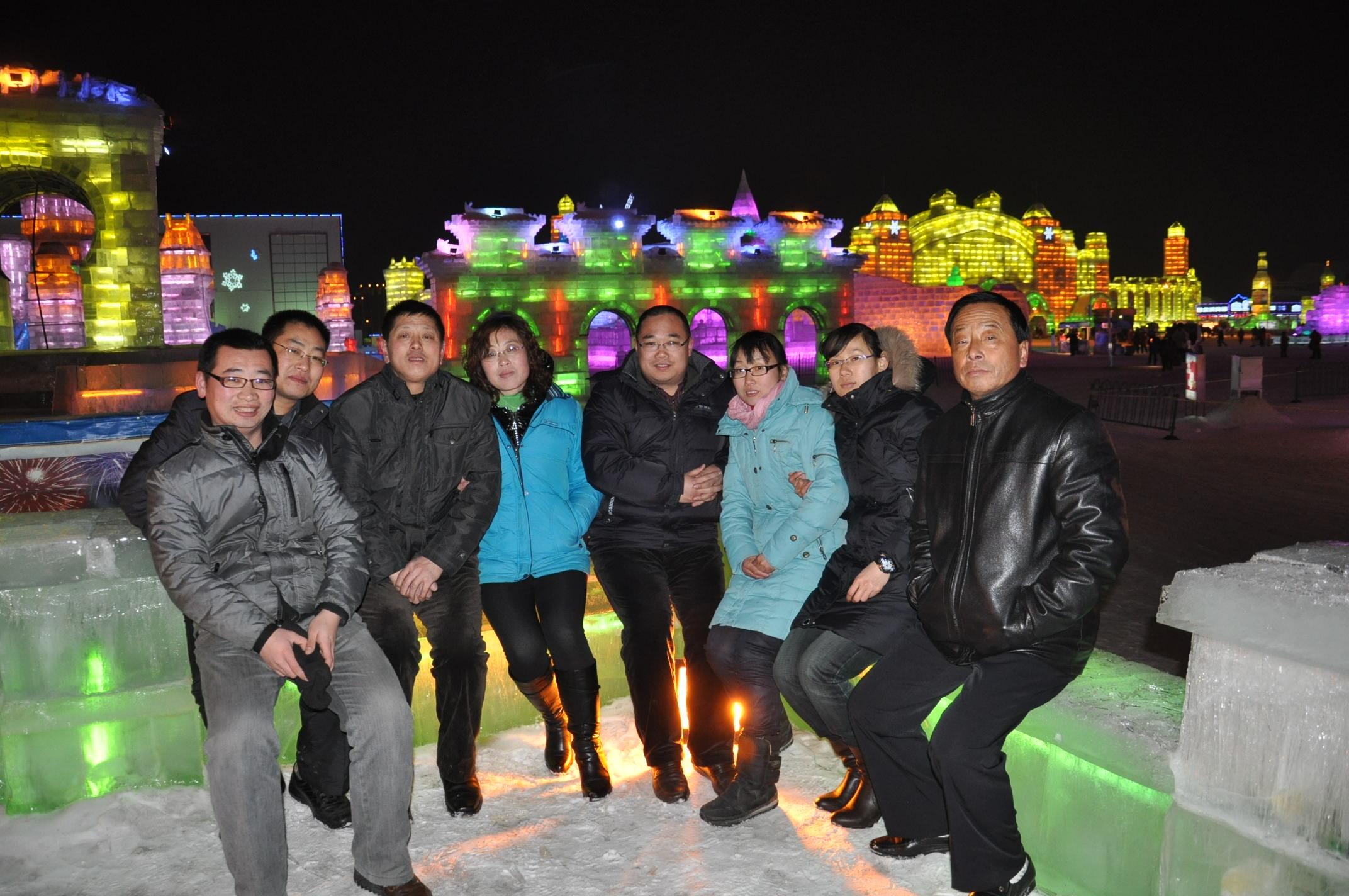 2011春节企业高层管理人员到冰雪大世界3