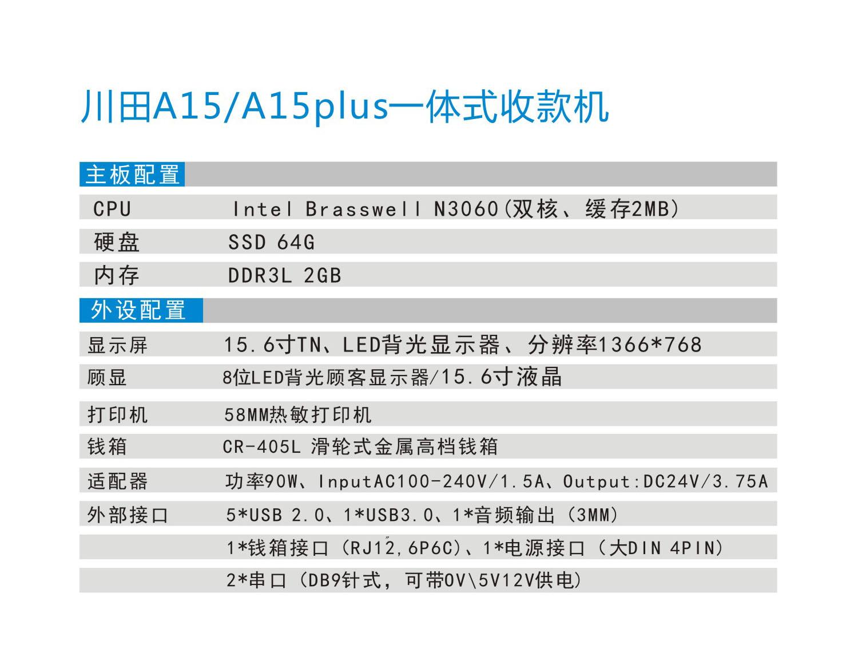 川田A15A15PLUS一體式收款機2