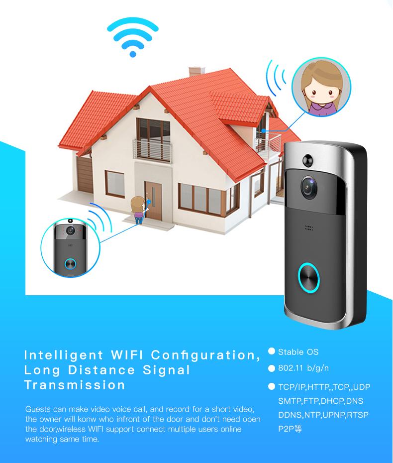 Wifi Wireless Battery Door Bell Apartment Peephole