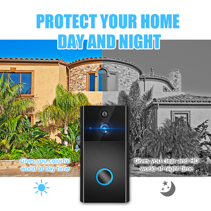 Icsee Smart security Battery Visual Intercom doorbell