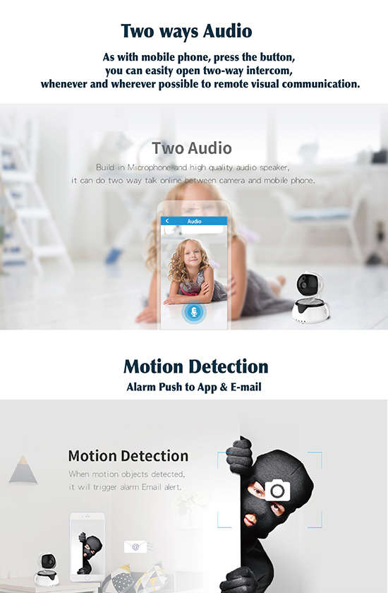 2018 Cheap Ptz IP Camera factory price 720P 1080P smart home
