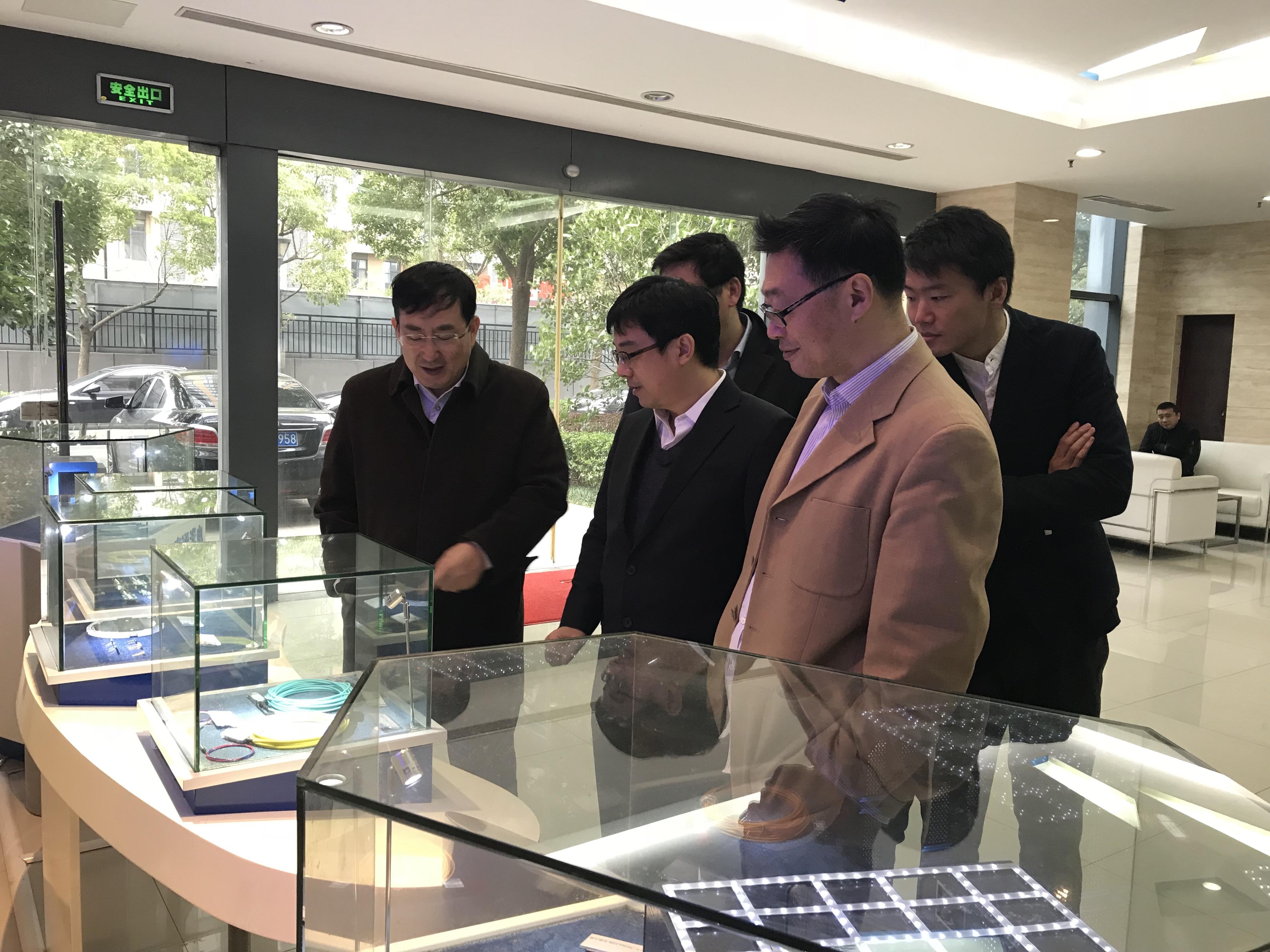 中央候補委員、中科院院士、上海微系統所所長王曦視察公司