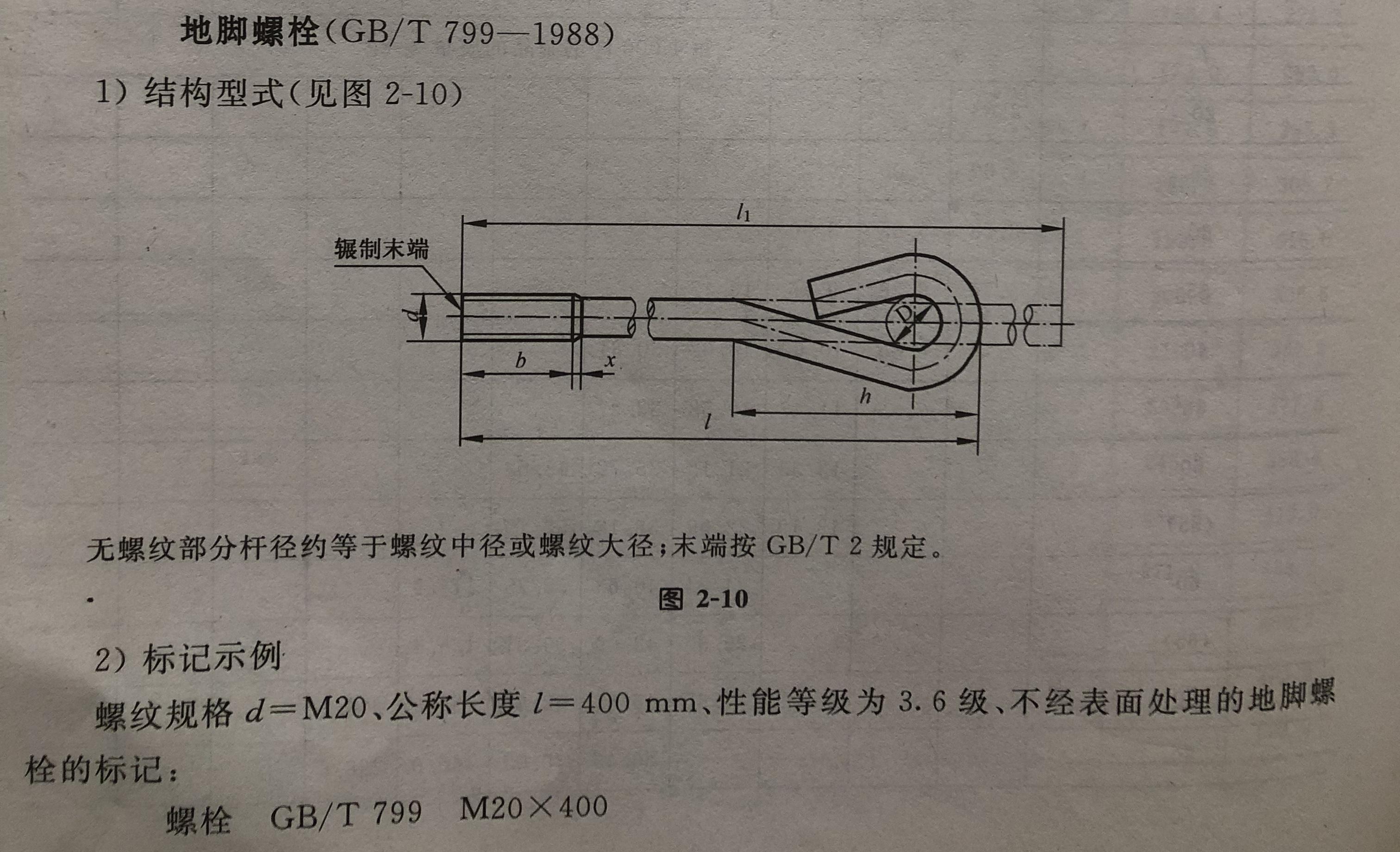 地脚螺栓详情1
