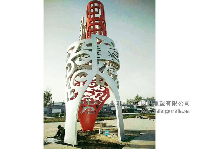 山东菏泽-不锈钢雕塑-工程案例-1001