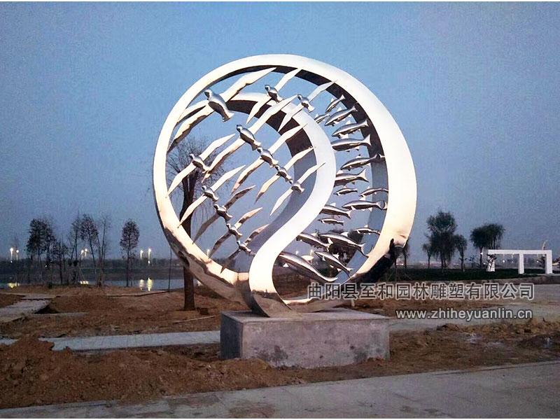 山东菏泽-不锈钢雕塑-工程案例-1002