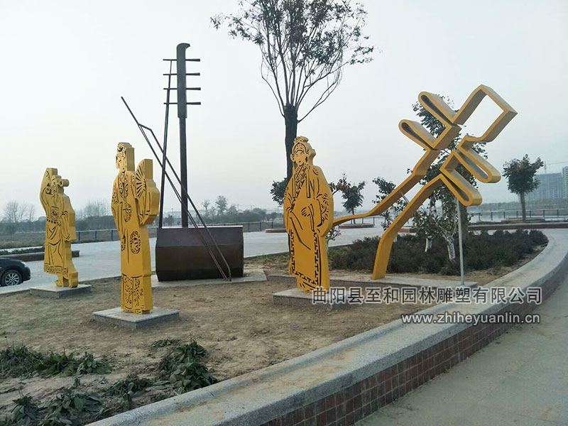 山东菏泽-不锈钢雕塑-工程案例-1007