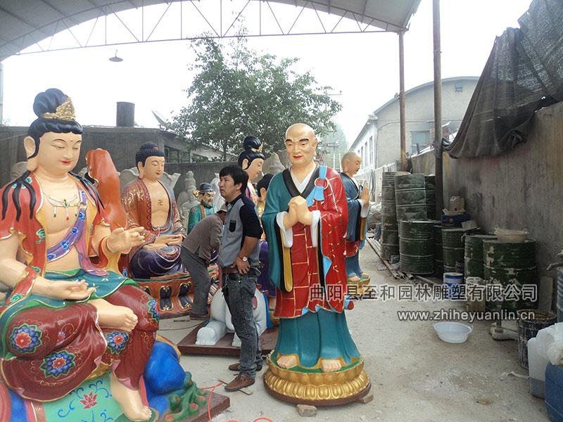 山西朔州-鴻福寺-玻璃鋼雕塑-工程-1001