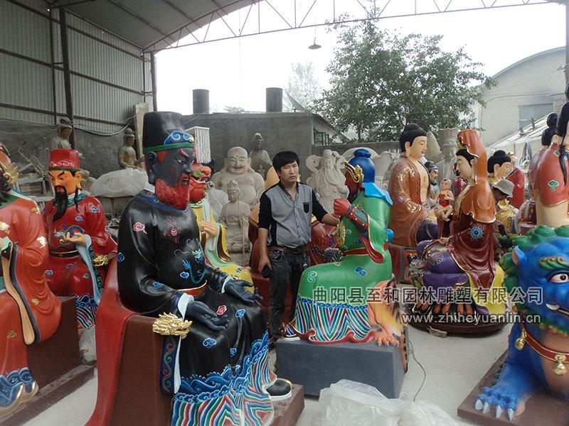 山西朔州-鴻福寺-玻璃鋼雕塑-工程-1002
