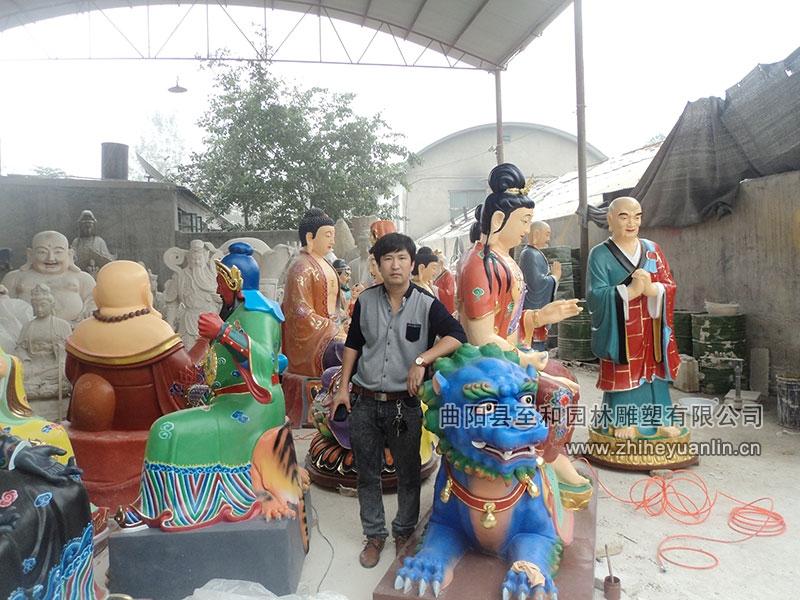 山西朔州-鴻福寺-玻璃鋼雕塑-工程-1003