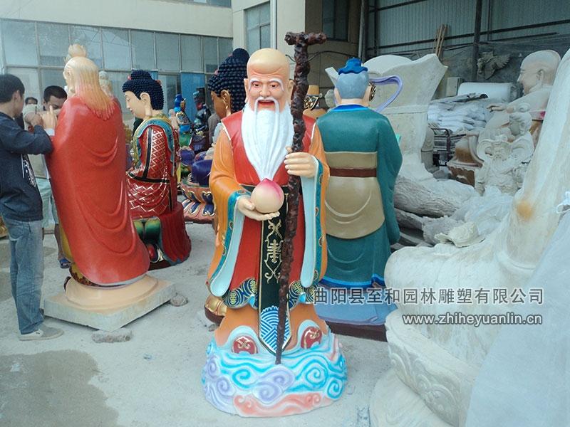 山西朔州-鴻福寺-玻璃鋼雕塑-工程-1005