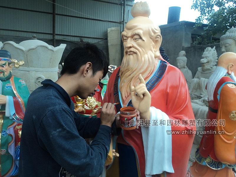 山西朔州-鴻福寺-玻璃鋼雕塑-工程-1007