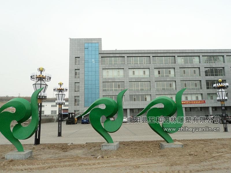 山西朔州-西易集團-不銹鋼雕塑-工程-1001