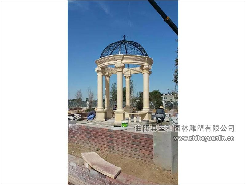 雄安-英伦小区-石凉亭-工程案例-1001
