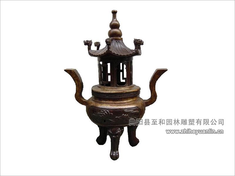 铜雕香炉-1002