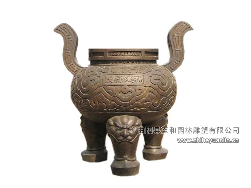铜雕香炉-1003