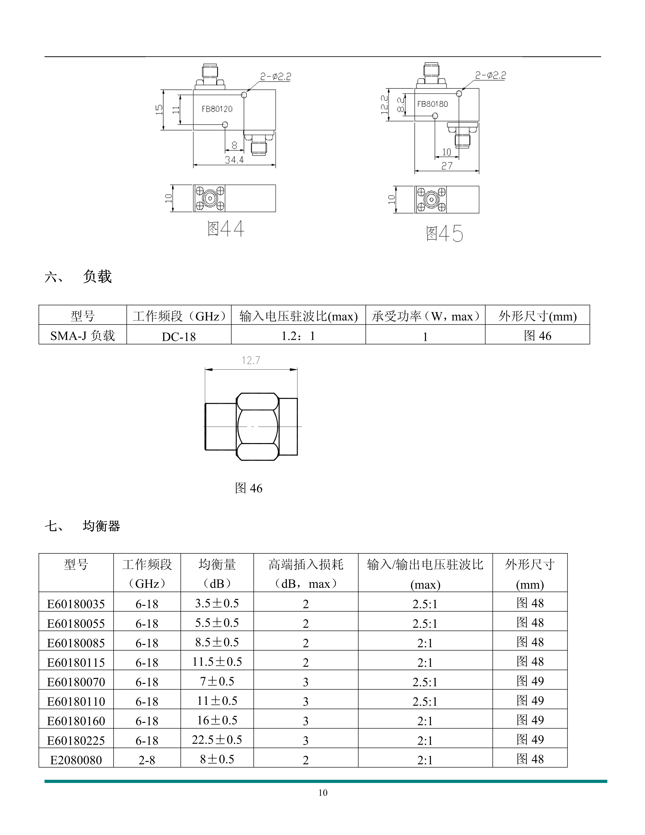 微波元器件產品手冊_10