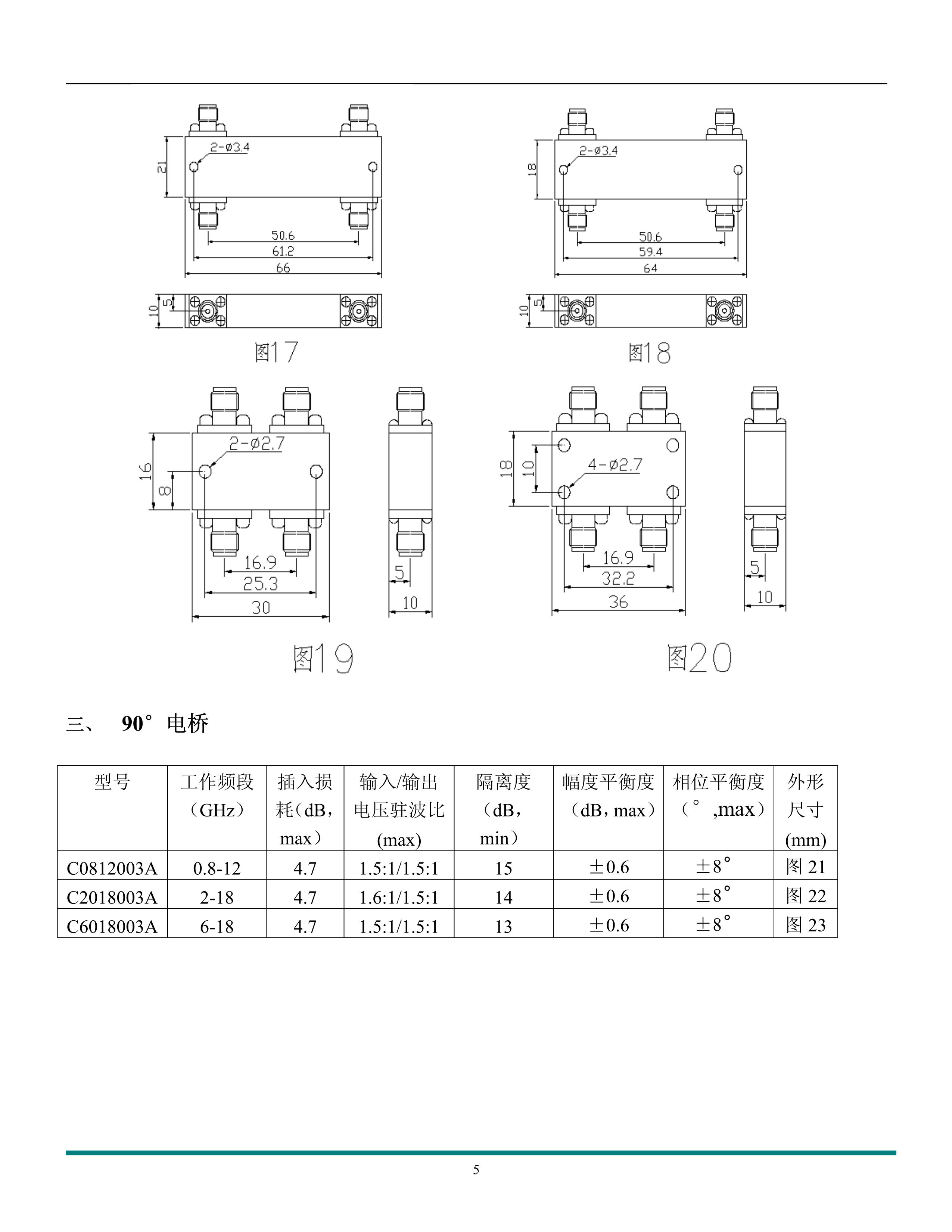 微波元器件產品手冊_5