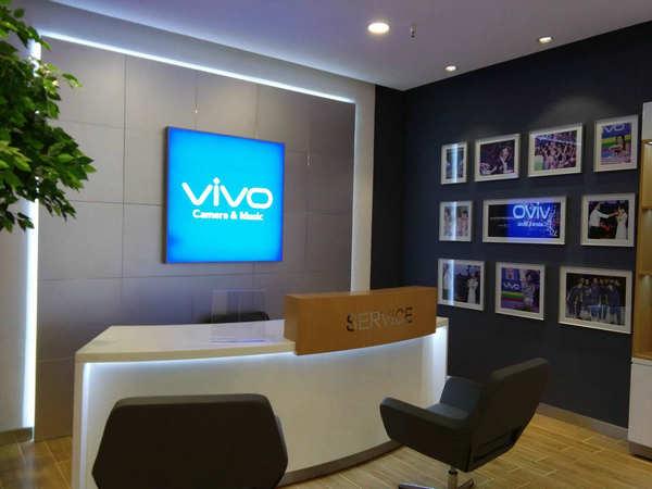 專賣店店面裝修VIVO手機專賣店近景展示