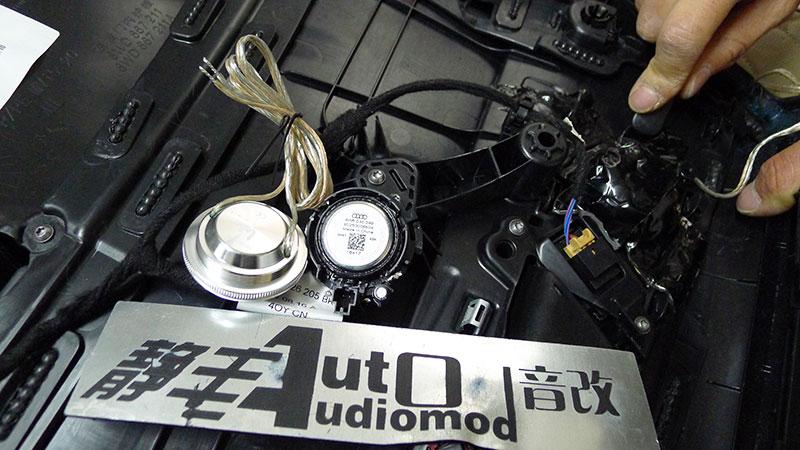 奥迪A4音响改装惠威PS12低音喇叭