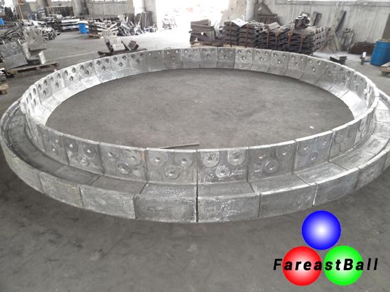 Nose Ring Segment Steel Balls Cylpebs Grinding Balls High Chrome