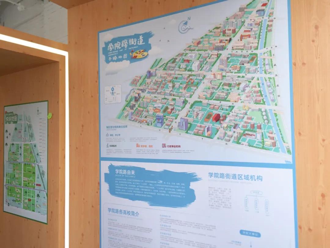 學院路手繪地圖