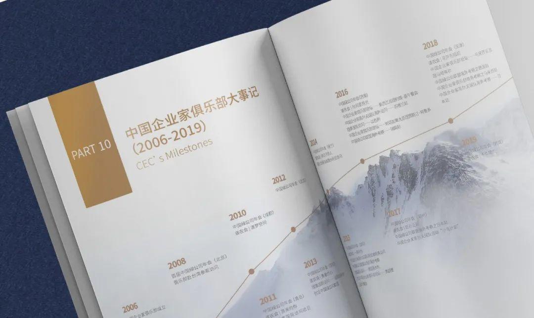 中國企業家俱樂部機構報告畫冊設計