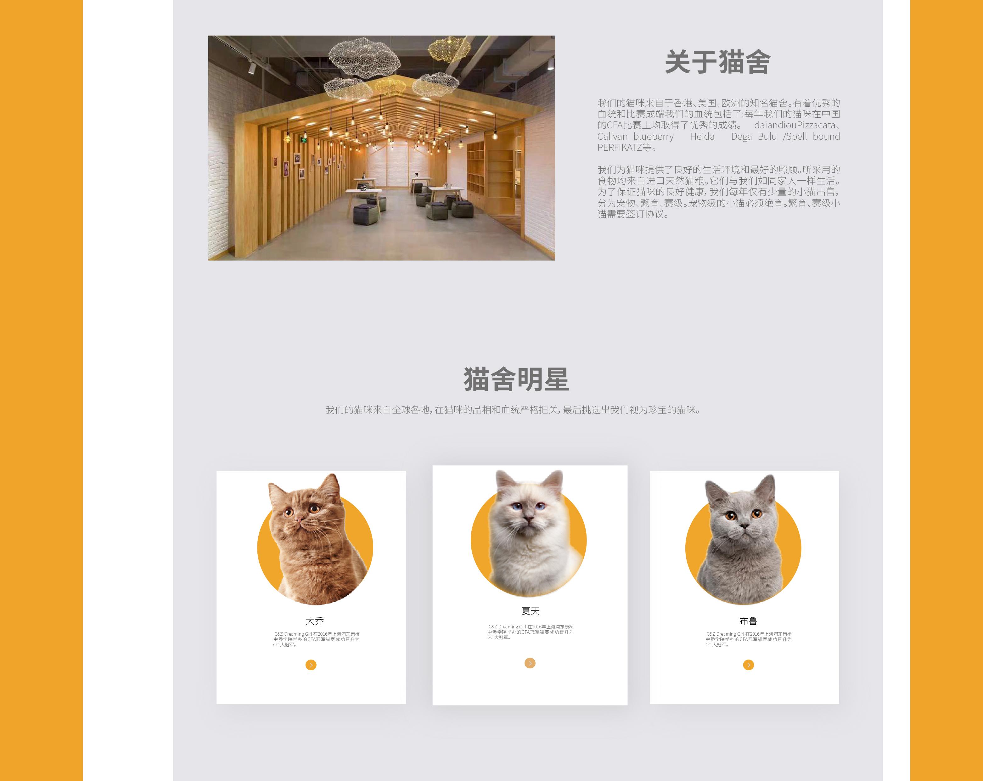貓公爵官網設計