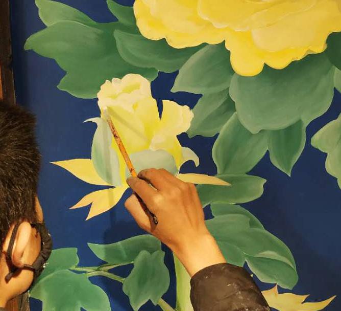 本视墙绘专业成都墙绘公司,定制手绘墙,文化墙彩绘