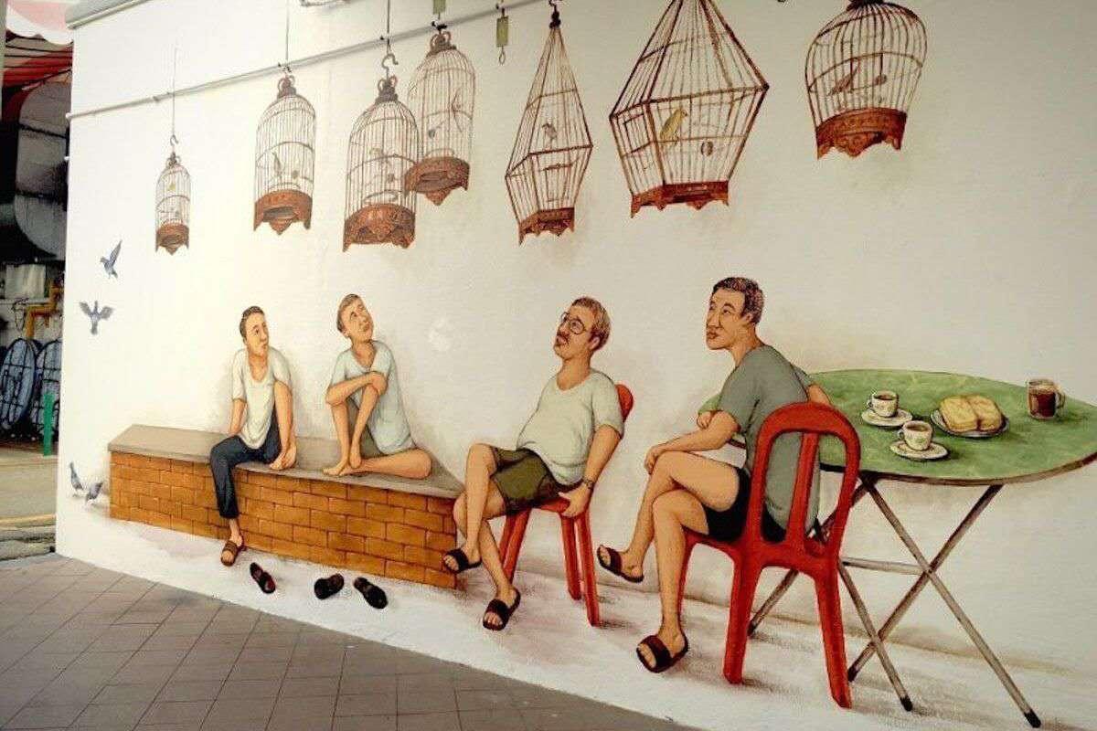 成都墙绘 社区文化墙彩绘定制
