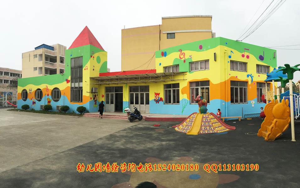 园外墙彩绘  幼儿园校园文化墙彩绘,纯手工绘制,丙烯画颜料无毒无味