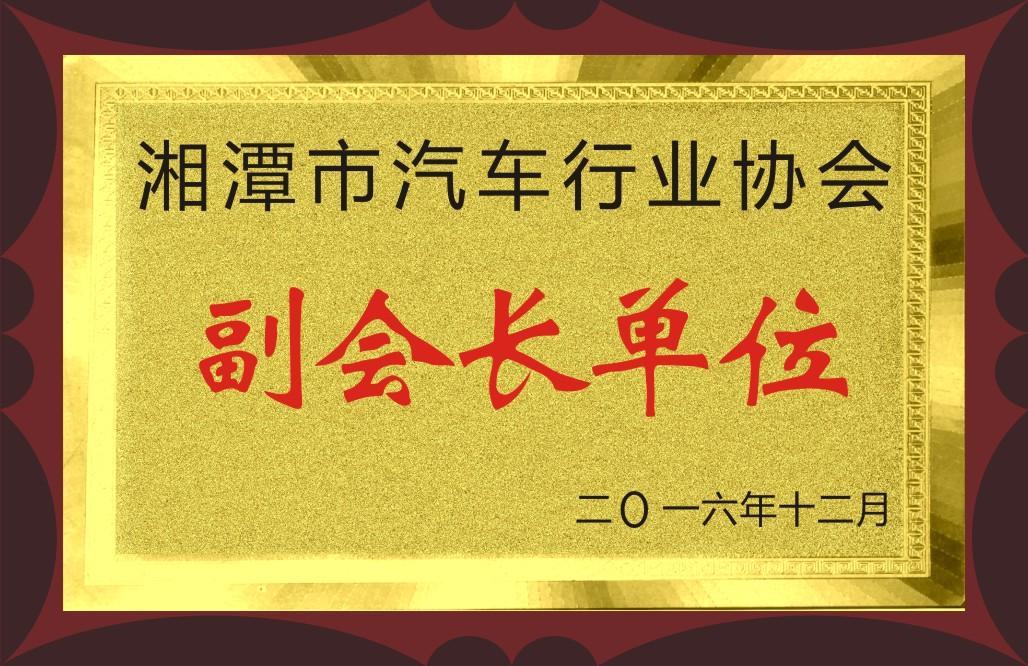2016湘潭市汽車行業協會副會長單位