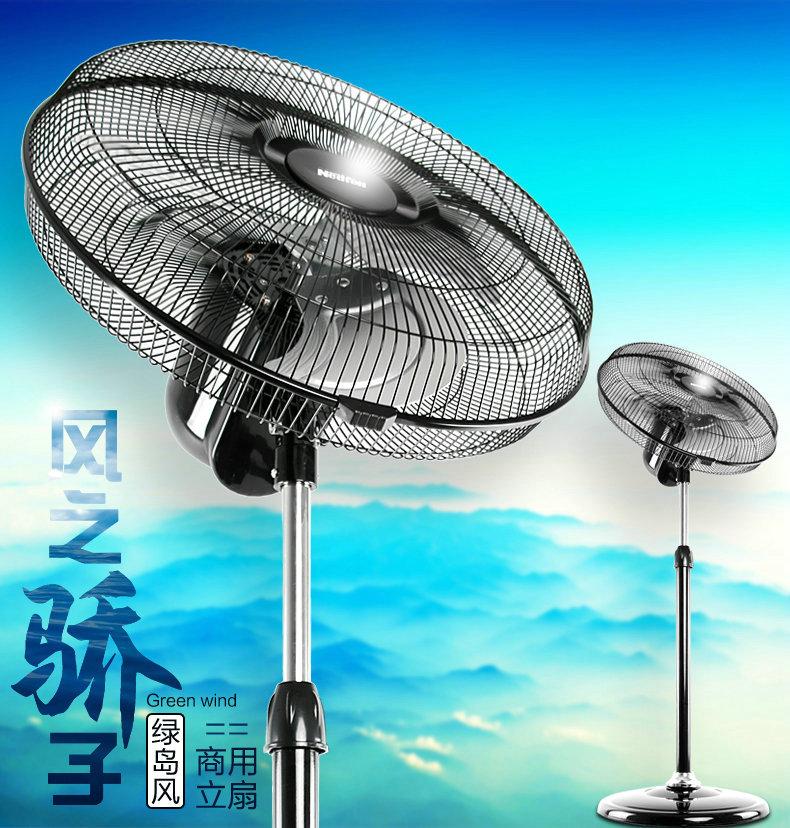 绿岛风落地摇头式强力电风扇-4
