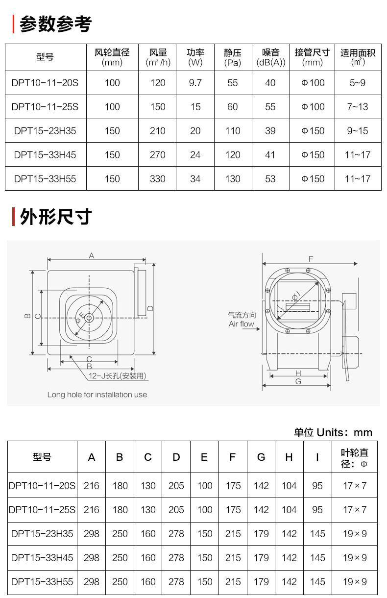 绿岛风节能静音型分体管道换气扇-10