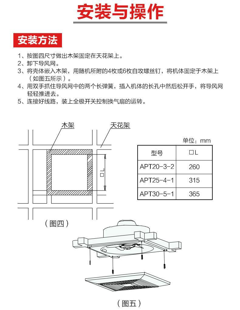 绿岛风天花板直排式换气扇-14