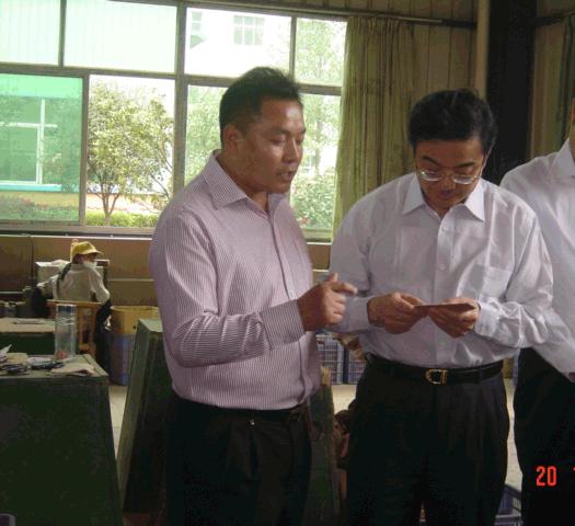 2009年4月,時任湖南省省長的周強同志參觀天天見公司