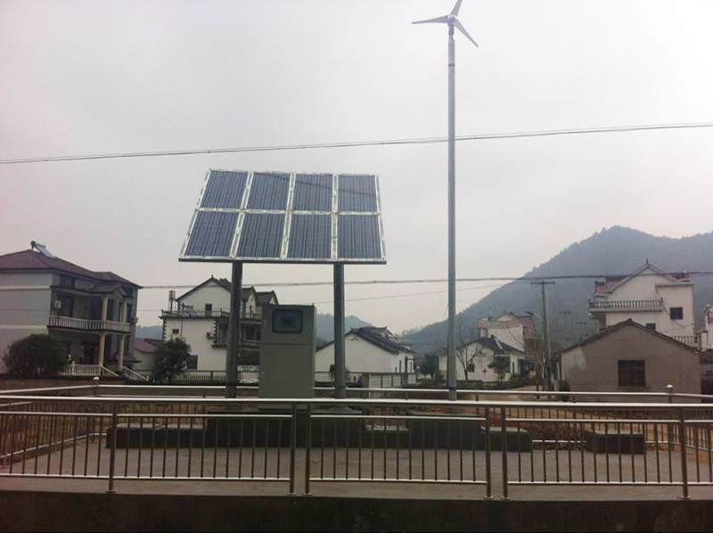 泾县茂林镇风光互补微动力污水处理工程
