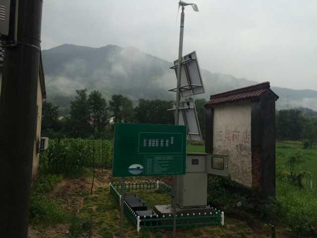 陵陽鎮分石村20噸天風光互補微動力污水