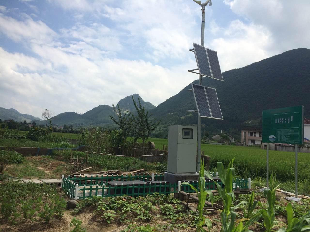 陵陽鎮三河村20噸天風光互補微動力污水