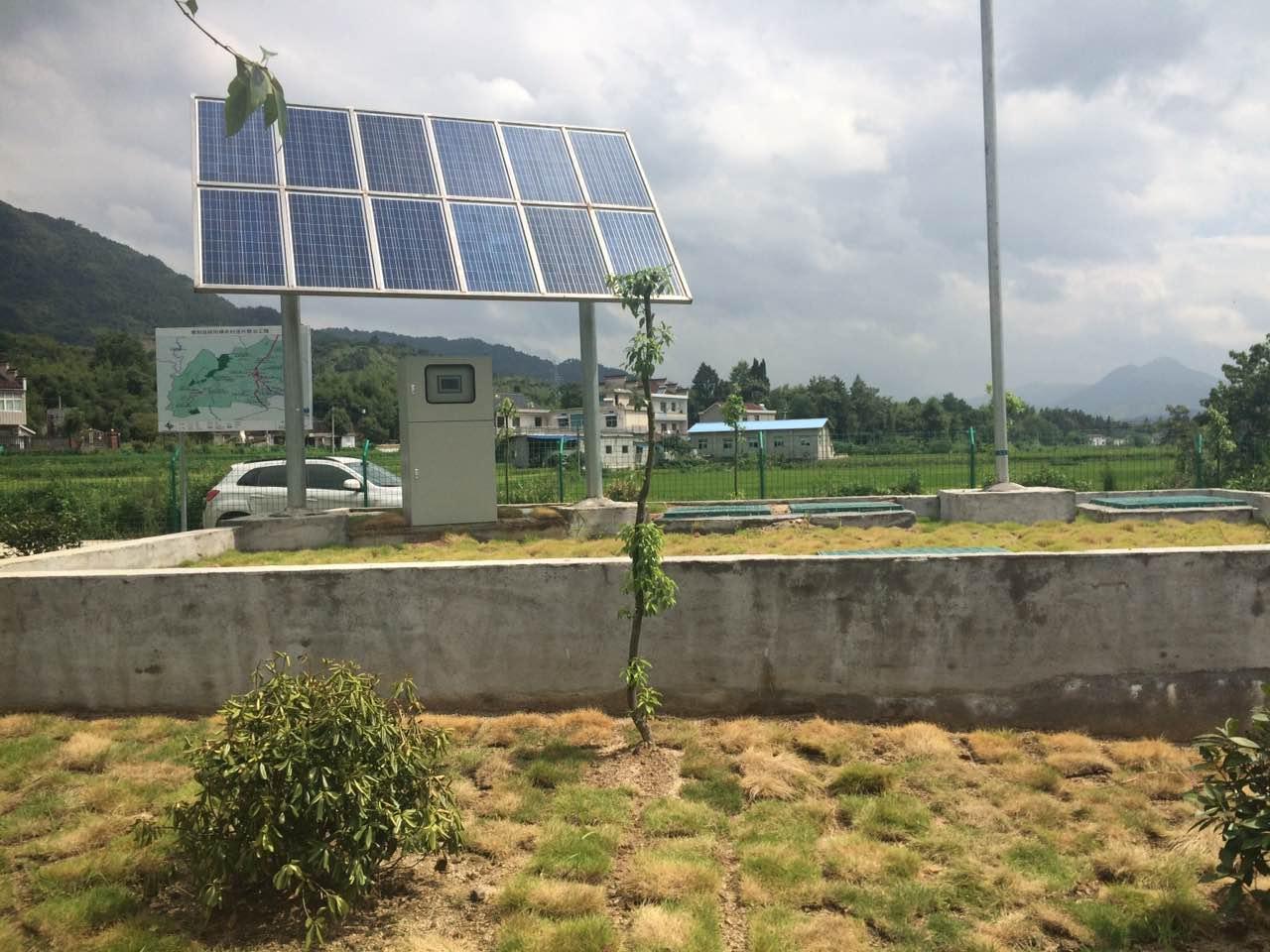 陵阳镇所村风光互补微动力污水处理项目